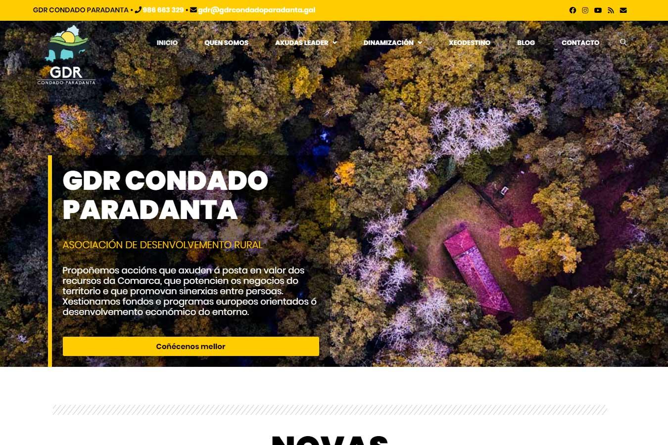 Presentamos a nova páxina web do GDR Condado Paradanta